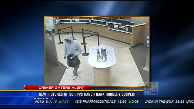 New  pictures of Scripps Ranch bank robbery suspect
