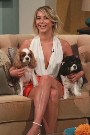Julianne Hough visits Access Hollywood Live with her two puppies on June 19, 2013 -- Access Hollywood