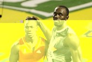 Usain Bolt (right) congratulates Yohan Blake on his victory in the 200m at the Jamaican Trials in Kingston last month. The race to be crowned world&#39;s fastest man takes centre stage at the Olympics on Sunday as Usain Bolt bids to defend his 100m title in what is being billed as potentially the quickest race in history