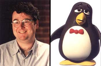 Joe Ranft as the voice of Wheezy in Disney's Toy Story 2