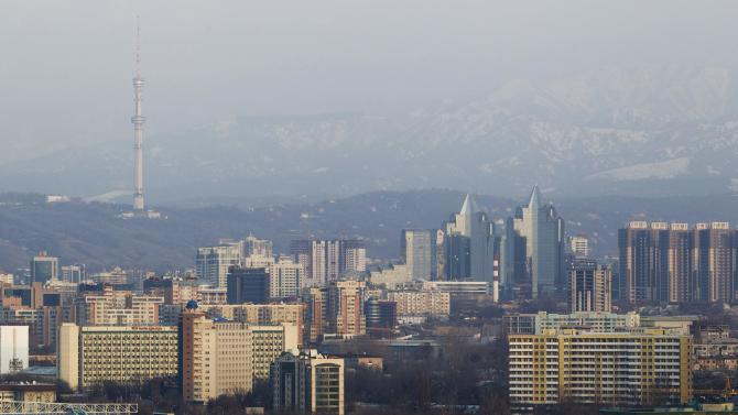 General view of downtown of Almaty