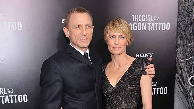 The Girl with the Dragon Tattoo NY Premiere Daniel Craig Robin Wright