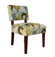 mitchell armless chair floral