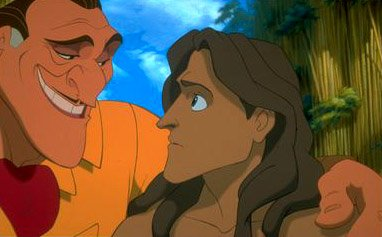Clayton attempts to manipulate Tarzan in Disney's Tarzan