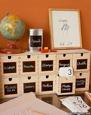 Wooden Bins with Chalkboard Paint