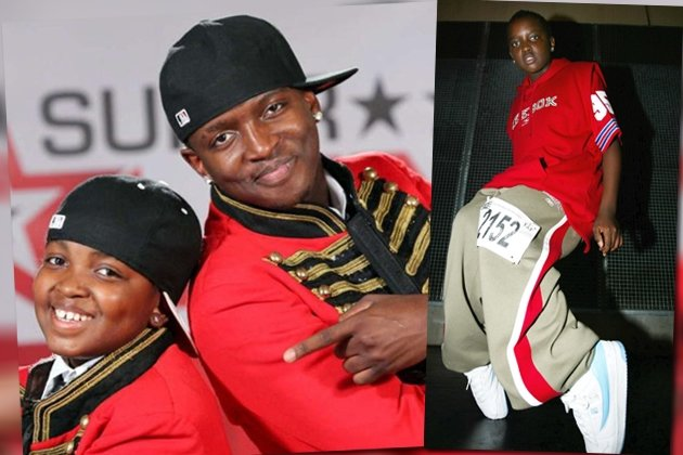 "Nilson Mufume (r.) mit seinem Bruder Zito bei ""Das Supertalent"" und 2004 bei der Hiphop-Weltmeisterschaft 2004 in Bremen. (Bilder: RTL/Stefan Gregorowius und Getty Images)"