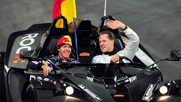 Race of Champions, 2010 - Vettel and Schumacher