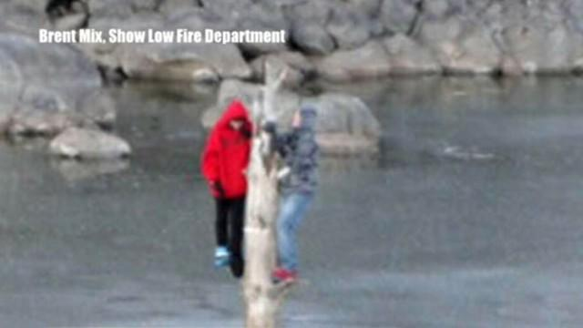 Caught on Tape: Teens Rescued From Frozen Lake