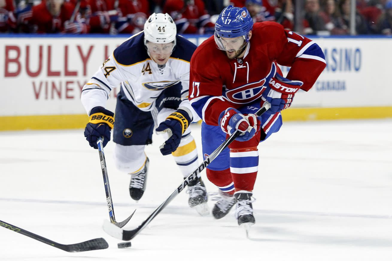 NHL Friday: Sabres light up Canadiens for six goals