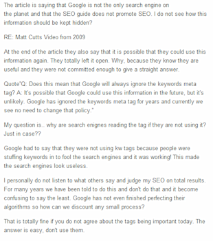 Google is Not God! Make Up Your Own Mind About SEO image comment2