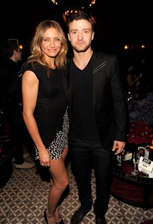 Cameron Diaz y Justin Timberlake en el afterparty de Bad Teacher