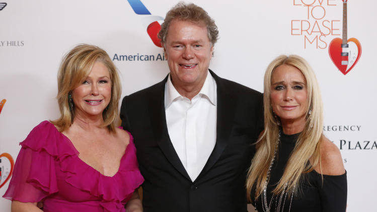 "Kathy Hilton, Rick Hilton and Kim Richards attend the 20th Annual Race to Erase MS Event ""Love to Erase MS"" at the Hyatt Regency Century Plaza on Friday, May 3, 2013 in Los Angeles. (Photo by Todd Williamson/Invision/AP)"
