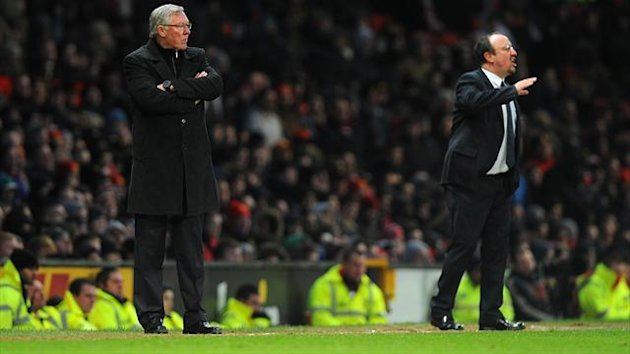 Sir Alex Ferguson, left, believes his players were emotionally drained by the Real Madrid loss