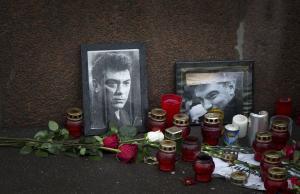 Boris Nemtsov's makeshift memorial in Moscow
