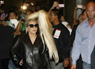 US singer Lady Gaga arrives at a hotel in Manila on May 19. Gaga, whose tour through Asia has been dogged by controversy, broke her silence about a jeopardised concert in Jakarta, saying on Twitter Tuesday that she was facing censorship from Indonesian authorities and threats of violence from Islamic hardliners