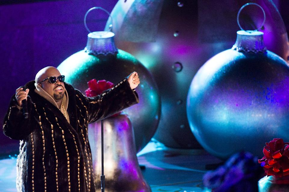 CeeLo Green performs at the 80th annual Rockefeller Center Christmas tree lighting ceremony on Wednesday, Nov. 28, 2012 in New York. (Photo by Charles Sykes/Invision/AP)