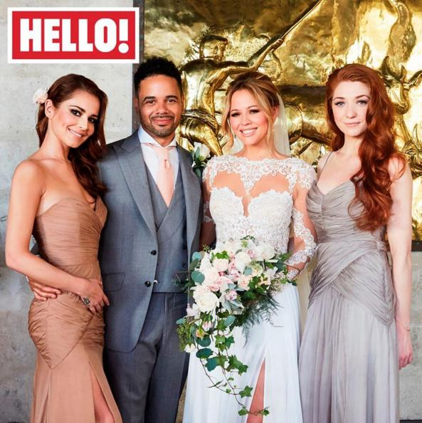 First Look At Kimberley Walsh's Exquisite Wedding Dress