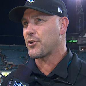 Jacksonville Jaguars head coach Gus Bradley applauds Jags' newfound belief
