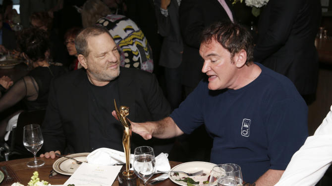 Harvey Weinstein and Quentin Tarantino attend the Australian Academy Of Cinema And Television Arts' 2nd AACTA International Awards at Soho House on January 26, 2013 in West Hollywood, California. (Photo by Todd Williamson/Invision/AP Images)