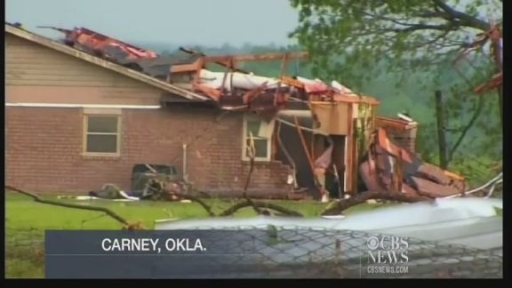 Video: Tornado destruction in Carney, Oklahoma
