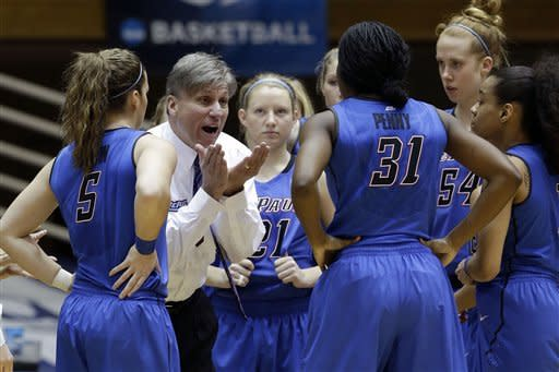 Cowgirls beat Blue Demons 73-56 in NCAA 1st round