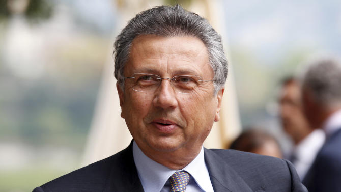 """This Friday, Sept. 3, 2010 photo shows then Agusta Westland Group CEO Giuseppe Orsi attending the """"Intelligence on the World, Europe, and Italy"""" economic forum, at Villa d'Este, in Cernobbio, on the Como Lake, Italy. On Tuesday, Feb. 12, 2013 Italian police arrested the chief executive of Italy's largest defense and aerospace group as part of an investigation into alleged international corruption. Prosecutors in the Busto Arsizio north of Milan ordered the arrest Tuesday of Finmeccanica CEO Giusppe Orsi. Police were carrying out a search of his residence. (AP Photo/Luca Bruno, files)"""