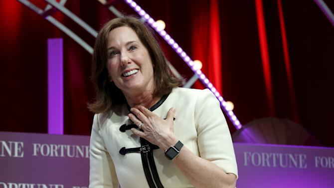 Lucasfilm's President Kathleen Kennedy speaks at Fortune's Most Powerful Women Summit in Washington