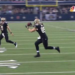 New Orleans Saints quarterback Drew Brees 12-yard TD pass to tight end Josh Hill