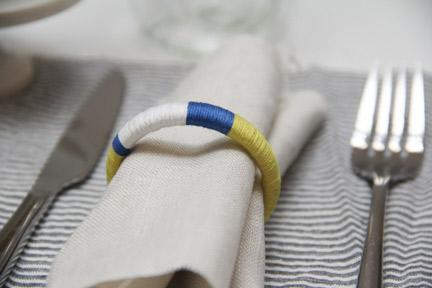 Craft Up Colorblock Napkin Rings