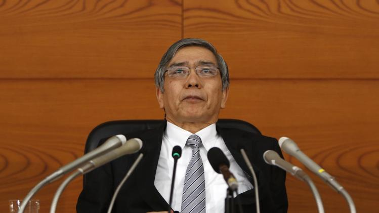 Bank of Japan Governor Haruhiko Kuroda attends a news conference at the BOJ headquarters in Tokyo