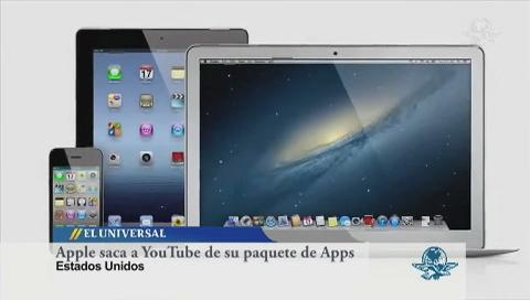 Apple saca a YouTube de su paquete precargado de apps