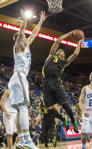 Ducks beat short-handed Bruins 87-83 in 2 OTs