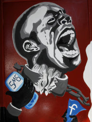 "FILE - In this March 30, 2011, file photo, a mural depicting a man in shackles and the Facebook logo and a mobile phone is seen on the wall of the University of Helwan arts academy in the Zamalek neighborhood of Cairo, Egypt. The team from the CIA's Open Source Center, housed in a unassuming brick building in a Virginia industrial park, pores daily over tweets, Facebook, newspapers, TV news channels, local radio stations, Internet chat rooms _ anything overseas that anyone can access, and contribute to, openly. The center saw the uprising in Egypt coming said the center's director, Doug Naquin. The center already had ""predicted that social media in places like Egypt could be a game-changer and a threat to the regime,"" he said in a recent interview with The Associated Press. (AP Photo/Manoocher Deghati, File)"