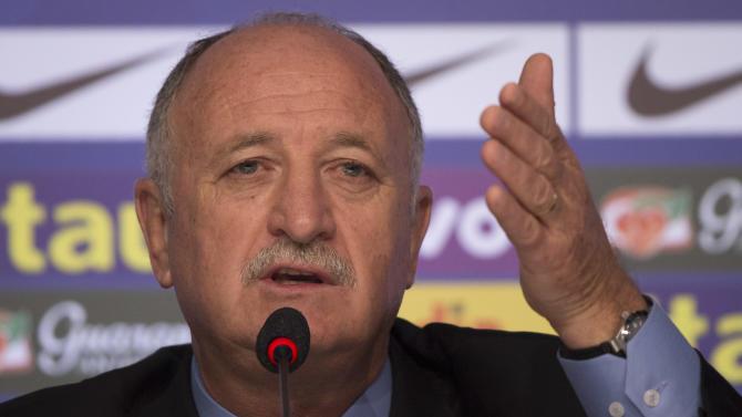 This is a Wednesday, May 7, 2014  file photo of Brazil's soccer coach Luiz Felipe Scolari as he announces his list of players for the 2014 Soccer World Cup during a news conference in Rio de Janeiro, Brazil.  Brazil coach Luiz Felipe Scolari is the subject of a criminal investigation in Portugal, authorities said Wednesday May 14, 2014. Officials wouldn't say what the investigation is about. In Portugal, ongoing investigations fall under the country's judicial secrecy law