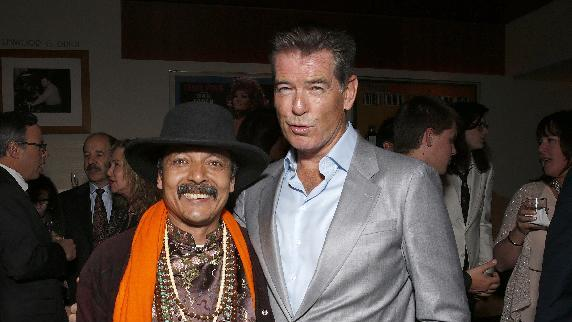 "IMAGE DISTRIBUTED FOR SONY PICTURES CLASSICS - Romeo Shresta and Pierce Brosnan attend the premiere Of Sony Picture Classics' ""Love Is All You Need"", on Thursday, April, 25, 2013 in Hollywood, California. (Photo by Todd Williamson/Invision for Sony Pictures Classics/AP Images)"