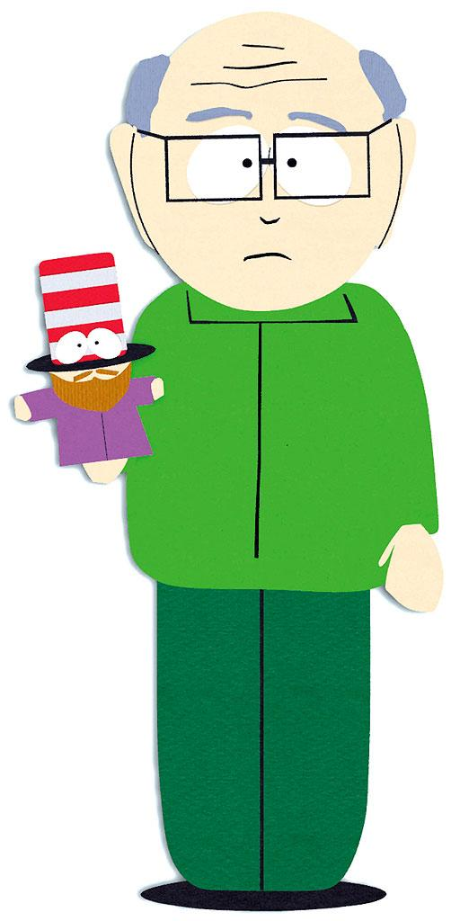 Mr. Garrison (voiced by Trey Parker) stars in South Park on Comedy Central.