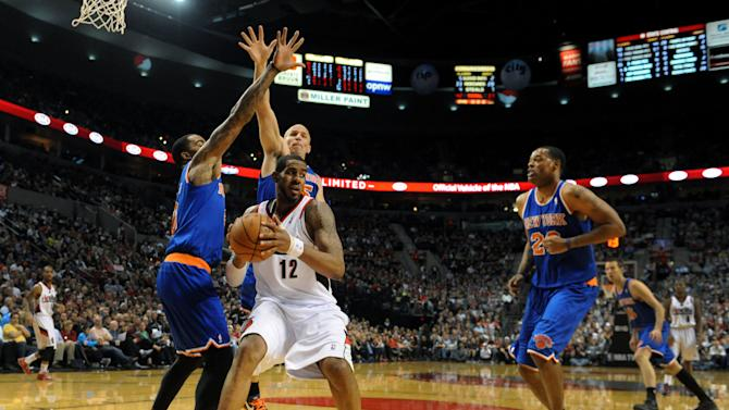 NBA: New York Knicks at Portland Trail Blazers