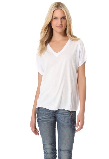 Rag & Bone Combo Oversized V Top