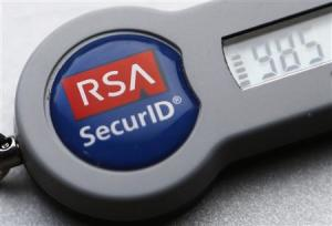 An RSA SecureD dongle used for internet VPN tunnelling is seen in Toronto in this file photo