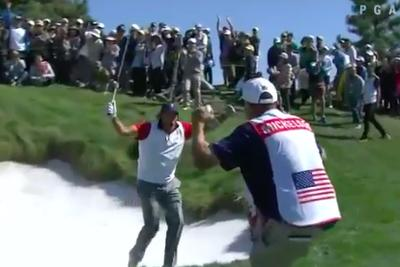 Phil Mickelson makes up for rules gaffe by draining incredible shot from fairway bunker