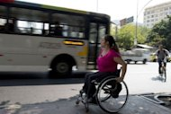 Brazilian Viviane Macedo, 35, is seen in Rio de Janeiro. Wheelchair dancing is not a paralympic sport, but champion Macedo hopes that the Rio Paralympics, in which 4,200 athletes from 150 countries will compete, will leave a lasting legacy for all of Rio's disabled