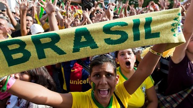 FOOTBALL World Cup Brazil fans