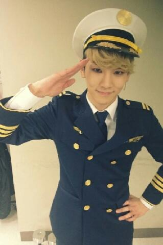 SHINEE's Key in pilot uniform