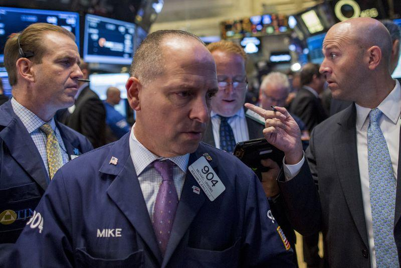 Wall Street little changed in choppy trading; financials weigh