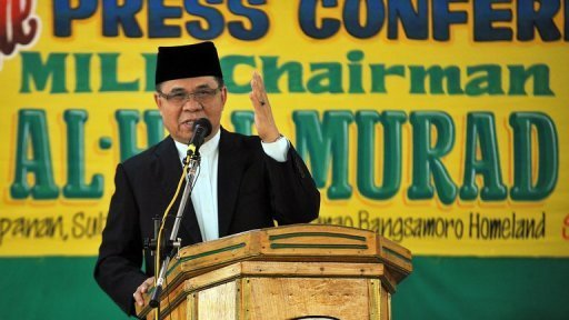 Murad Ebrahim (pictured), chairman of the Moro Islamic Liberation Front, s optimistic about the signing of a peace deal with the Philippines government, the group says on its website