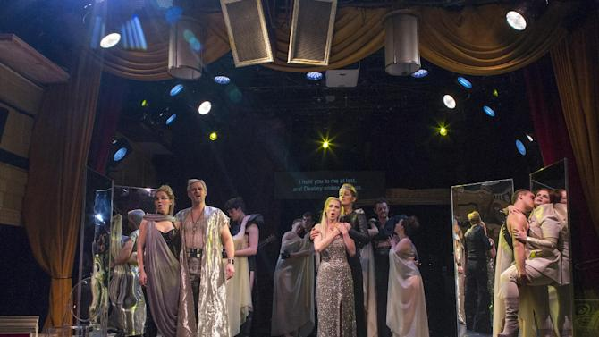 "In this March 13, 2013 photo provided by the Gotham Chamber Opera, the cast performs in Francesco Cavalli's  ""Eliogabalo"" during a dress rehearsal by the Gotham Chamber Opera in New York. (AP Photo/Gotham Chamber Opera, Richard Termine)"