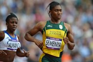 South Africa&#39;s Caster Semenya competes in the women&#39;s 800m heats at the athletics event of the London 2012 Olympic Games. Semenya moved a step closer to adding the Olympic title to her controversial 2009 world title as she eased into the 800 metres semi-finals