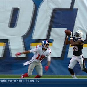 San Diego Chargers cornerback Shareece Wright interception