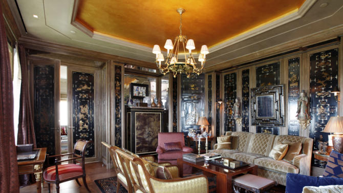 $50 million two-bedroom apartment at Central Park Ritz-Carlton black paneling