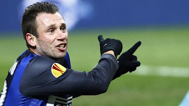 Inter's Antonio Cassano (AFP)